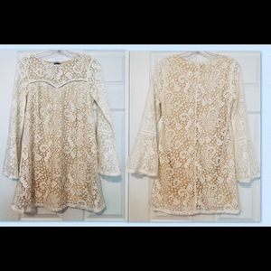 Women's cream lace dress